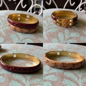 2 Picchioni Firenze Gold Plated 24kT Bracelets